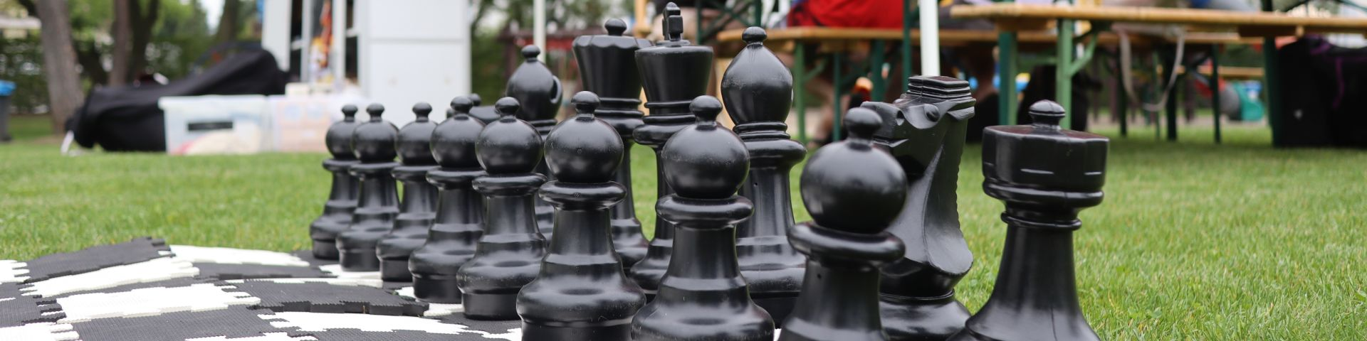 chess at a board game exhibition
